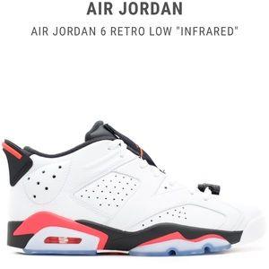 """🔥🆕Air Jordan Retro 6 Low """"Infrared"""" Size 8.5"""